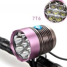 Headlight Bicycle Light + 10000mAh Battery Pack 9000 Lumen 7x CREE XM-L T6 LED Bike Light Lamp Headlamp + 8.4V Charger