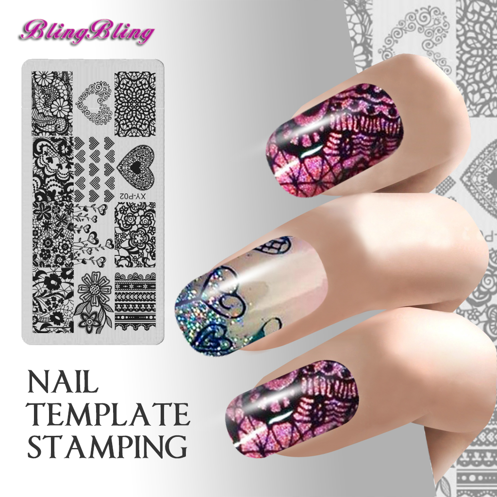 7pcs/set Manicure Nail Stamping Plates Image Template Nail Design ...