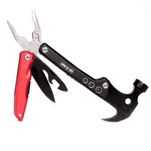 Multi Tool Knife Plier Claw Hammer Folding Tools Plier Outdoor Survival EDC Tools Nail Puller Screwdriver Bits Wire Cutter