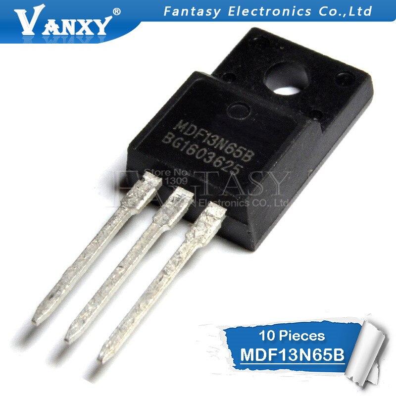 10pcs MDF13N65B TO-220F MDF13N65 TO220F 13N65B MDF13N65BTH 650V 13A New Original