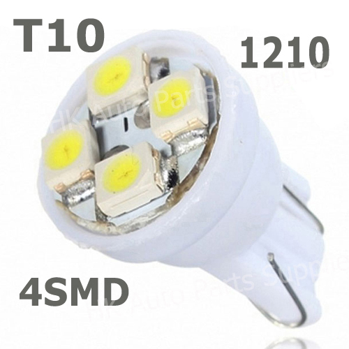 Whole Sale car led auto led w5w 194 4SMD T10 4LED 4 LED smd 3528 1210 Wedge lamp Bulbs Car Side Indicator Light 500pcs/lot