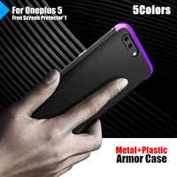 Oneplus 5 Case Guardian Hybrid Plastic Aluminum Armor Hard Back Cover For Oneplus 5 Metal Frame