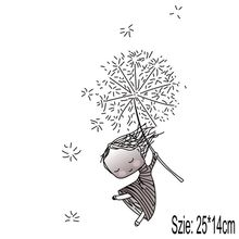 Buy 25x14cm Cartoon Dandelion girl Iron On Stickers Washable Appliques A-level Patches Heat Transfer For DIY Accessory Clothing directly from merchant!