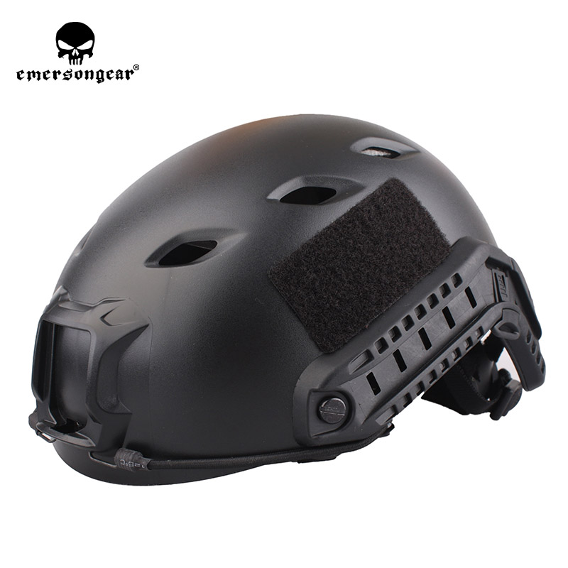 emersongear Emerson Fast Helmet BJ TYPE Middle Covered ABS Tactical Hunting Cycling Climbing Helmet Black Helmet