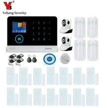 YobangSecurity Touch Keypad Wireless WIFI GSM RFID Burglar Home Security Alarm System APP with Video IP Camera Smoke Fire Sensor