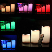 Romantic 18 Keys Remote Control Candle Colorful LED Electronic Flameless Candle Lights for  Valentine Wedding Decoration Gift