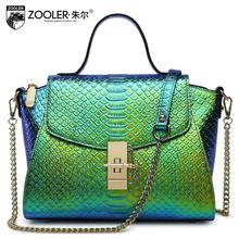 Cow leather handbag free delivery 2016 The new leather snake chain package handbag Shoulder Messenger Bag