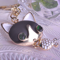 Cute Fox Ai Ali Doll Key Chains Porta Chaves Chaveiros Black Jewelry Accessories Pingente Hallow Out Epoxy Esmaltes Resin Dota