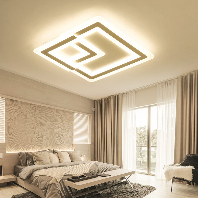 Modern LED Ceiling Lights acrylic Living Bedroom lights Decorative lampshade Lamparas de techo Dimmer Ceiling Lamp modern led ceiling lights acrylic ultrathin living room ceiling lights bedroom decorative lampshade lamparas de techo