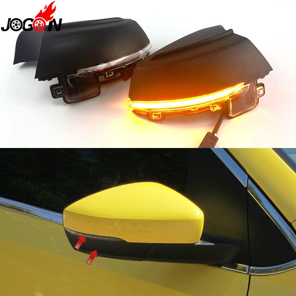 For Volkswagen VW POLO MK5 6R 6C 2009-2013 2014 2015 2016 2017 Dynamic LED Turn Signal Light Side Wing Mirror Indicator Blinker