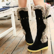Big yards Boots 2016 Warm high quality Women's boots Hasp rivet women boots fashion loubuten shoes free delivery  #20