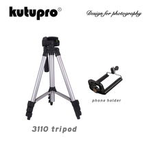 3110A Pro Lightweight Mini Tripod Portable Flexible Aluninum Camera Tripod With Three-way Head For Sony Canon Nikon DSLR Camera z09 convenient mini portable plastic tripod for camera orange