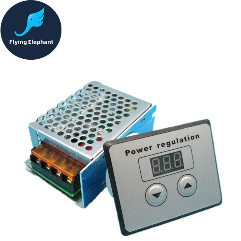 4000W SCR Ultra high Power Electronic Digital Regulator Dimming Speed control Thermostat Shell Display