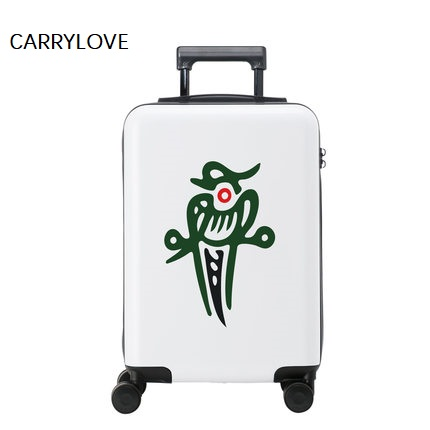 Boarding 20/24 Inch Chinese Style Quintessence Mahjong PC Rolling Luggage Spinner Brand Travel Suitcase