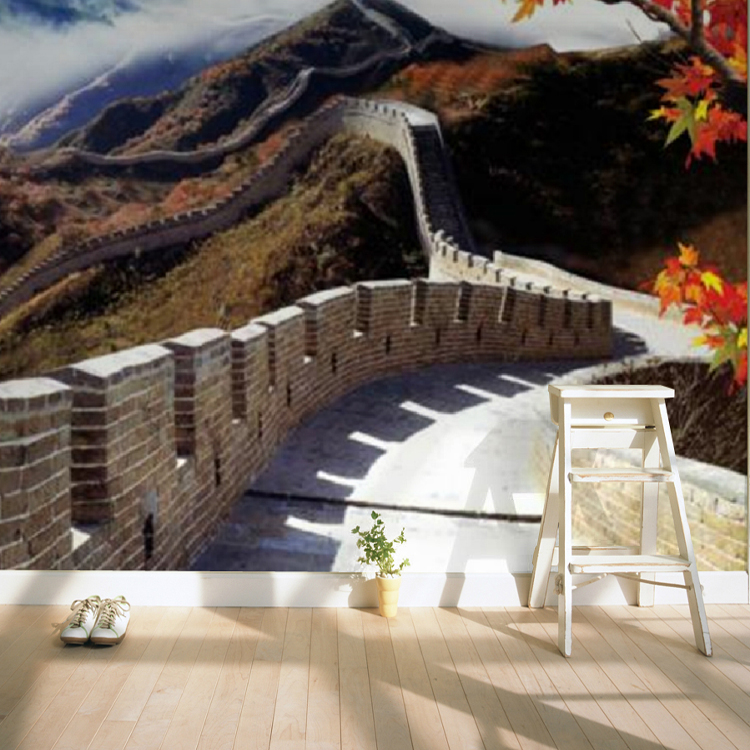 3D photo wallpaper Custom large mural wallpaper TV backdrop sofa bedroom Wallpaper modern China the Great Wall wallpaper mural modern simple romantic snow large mural wallpaper for living room bedroom wallpaper painting tv backdrop 3d wallpaper