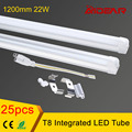 Integrated led tube T8 1200mm 22W, CE Rohs 4ft led tube T8 led tube 25pcs/lot