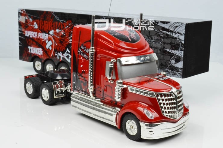 Detachable Remote Control Big Size 1:32 RC 6CH Container Heavy Truck With  Lights And Sounds Free Shipping In Ride On Cars From Toys U0026 Hobbies On ...