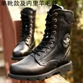 Cement Waterproof Euro Rubber Mid-calf Lace Up Cowhide Round Toe Lace-up Genuine Leather Combat Desert Tactical Army Boots