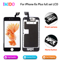 Full Set LCD For iPhone 6S plus LCD Display Home button+Front camera+3D touch Touch Screen Digitizer Assembly Grade AAA Quality