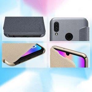 Image 5 - Sólo negro Huawei Honor 10 Lite 6,21 Original Nillkin Sparkle plástico cuero en Honor10 Lite Flip Cover Fundas de teléfono