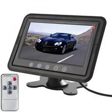 цена на 7 Inch Color TFT LCD DC 12V Car Monitor Rear View Headrest Display with 2 Channels Video Input for DVD VCD Reversing Camera