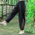 Primavera Verão Novo Cintura Alta Botão E Zíper Longo Pant moda Novas Mulheres do Harém Calça Casual Cor Sólida Calças Soltas 2016