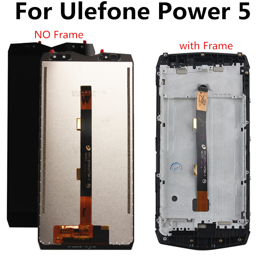 FOR <font><b>Ulefone</b></font> <font><b>Power</b></font> <font><b>5</b></font> LCD Power5 LCD Display+Touch <font><b>Screen</b></font> Digitizer Assembly Replacement for <font><b>Power</b></font> <font><b>5</b></font> lcd image