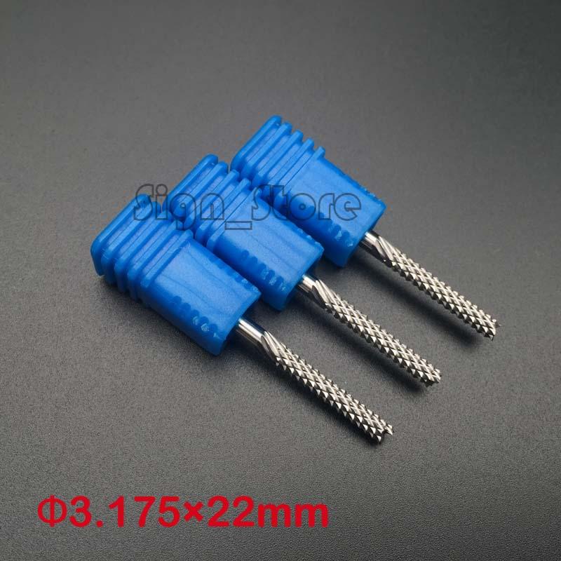 HQ 10pcs 3.175*22mm PCB Cutters, Corn Teeth Carbide Tool Bit,CNC ...