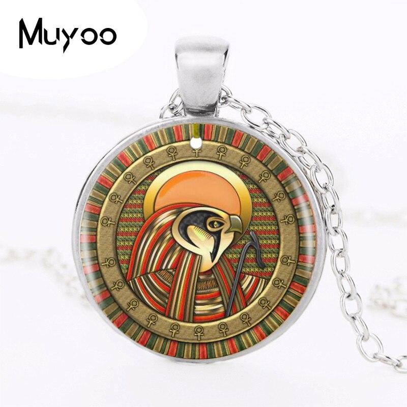 1 Teile/los Auge Von Ra Logo Anhänger Halskette Ägyptische Sonne Gott Symbol Handmade Vintage Silber Kette Halskette Frauen Schmuck Hz1 Angenehme SüßE