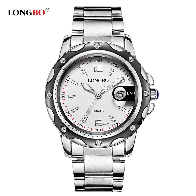 dc7154951a3 2018 Longbo Luxury Brand Men Leather Or Stainless Steel Watch Sports Quartz  Watches Leisure Clock Simple Relogio Masculino 80101-in Quartz Watches from  ...