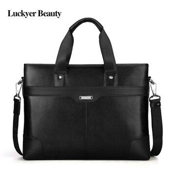 ŞANSLı GÜZELLIK Lüks Marka Iş erkek Evrak Çantası Hakiki Deri Evrak Çantası Erkek Çanta laptop çantası erkek Portföy Çanta