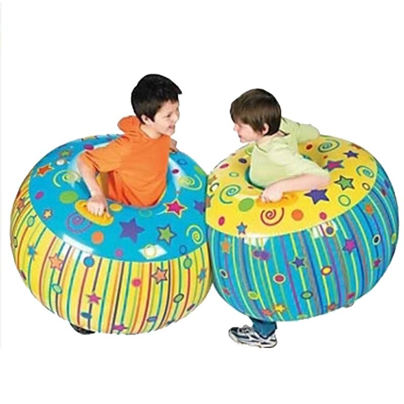 2 unids/set amarillo Azul Rojo niños al aire libre deporte juguetes inflable cuerpo cubo parachoques bola Sumo parachoques Bopper entrenamiento senorial-in Pelotas de juguete from Juguetes y pasatiempos    1