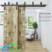 6 6 FT Cast Iron Barn Door Hardware Track
