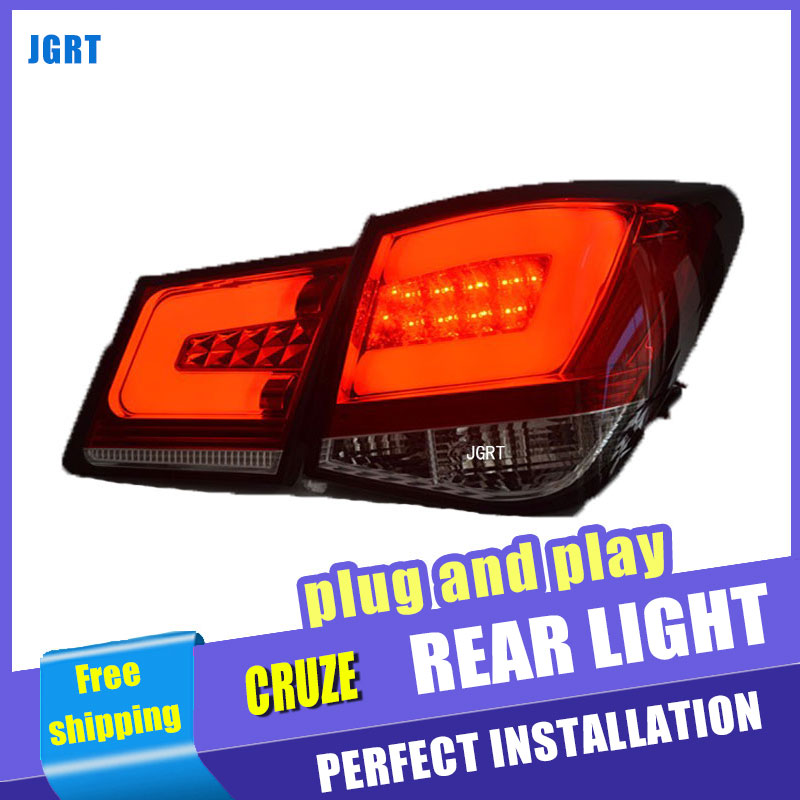 Car Styling for Chevrolet Cruze Taillights Taiwan Sonar Cruze LED Tail Light Rear Lamp DRL+Brake+Park+Signal