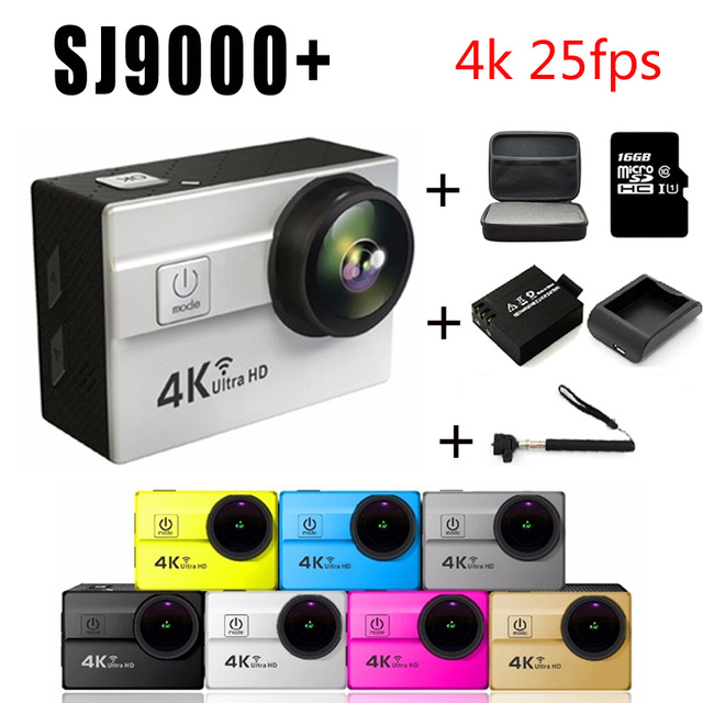 Ultra HD 4K Action Camera Wifi 2.0 LTPS LED mini cam recorder marine diving 1080P HD DV Go pro style