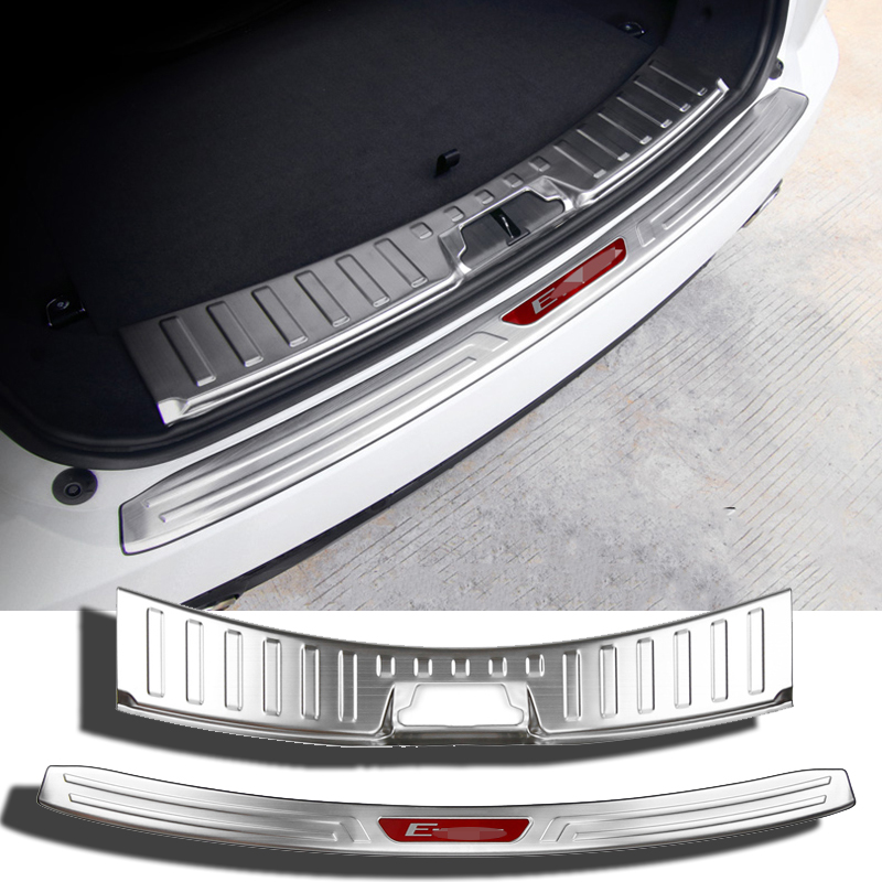Car styling accessories stainless Steel Rear Bumper Protector Sill Trunk Guard Anti friction plate For Jaguar