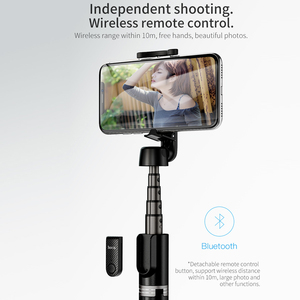Image 2 - Hoco Wireless Bluetooth Selfie Stick Handheld Smart Phone Camera Tripod with Wireless Remote For iPhone X Samsung Huawei Android