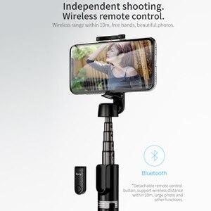 Image 2 - Hoco sans fil Bluetooth Selfie bâton poche téléphone intelligent caméra trépied avec télécommande sans fil pour iPhone X Samsung Huawei Android