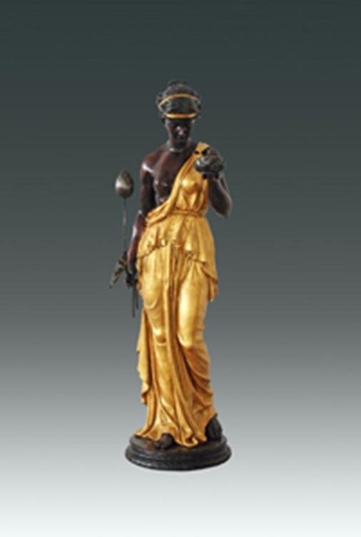 Western Statue Bronze Hebe gudinde, der holder Lotus censer - Indretning af hjemmet - Foto 1