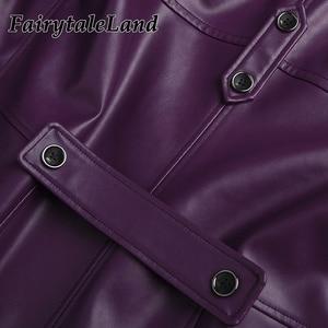 Image 5 - Injustice 2 Джокер Косплей Костюм на заказ Хэллоуин костюмы для взрослых мужчин причудливый клоун костюм фиолетовое зимнее пальто