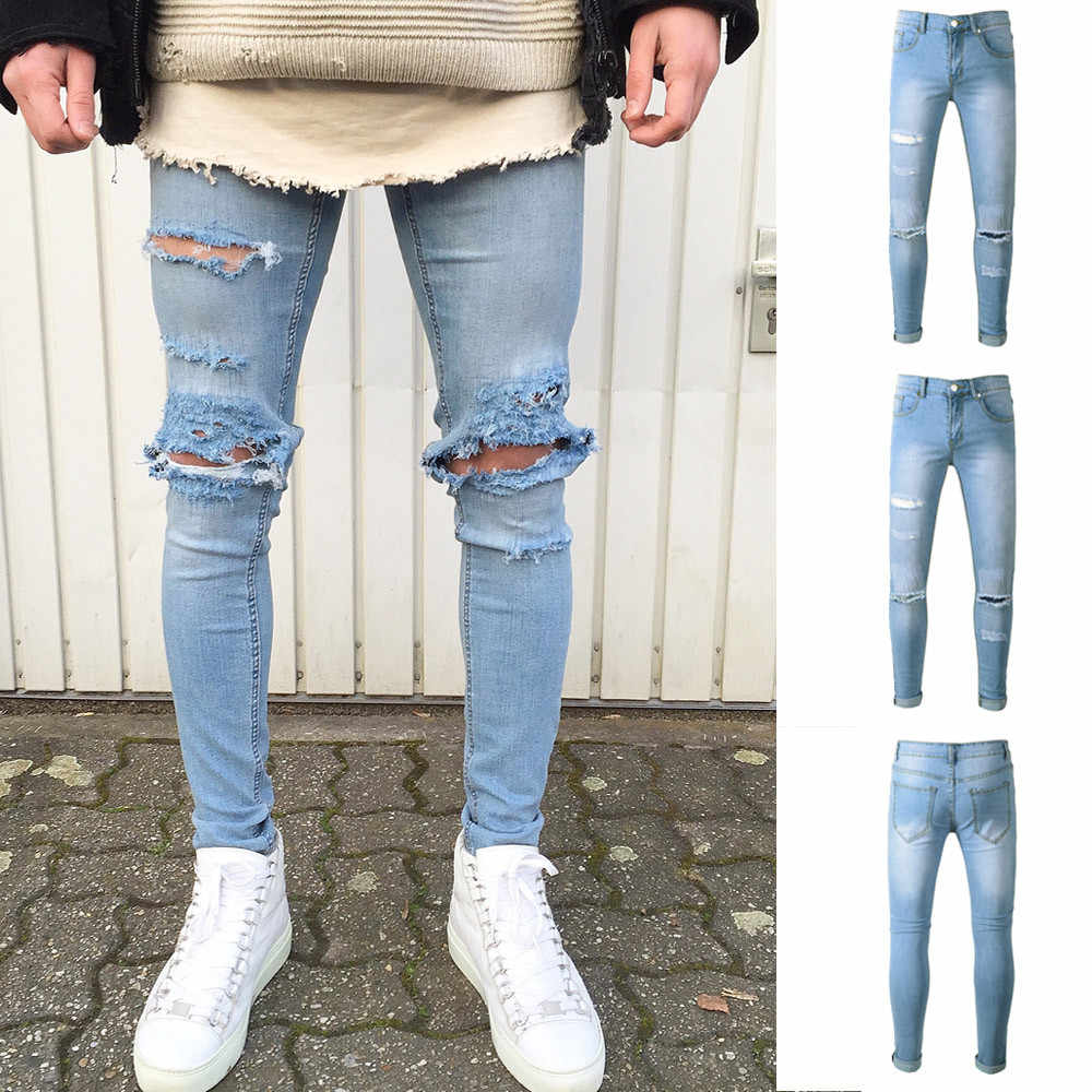 Coupe Jean Homme Detail Feedback Questions About Men S Slim Fit Denim Pants
