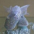 Bling do nome e data de aniversário do bebê prewalkers Newborn Costume fantasia deslumbrante crianças moda infantil sapatos nobres