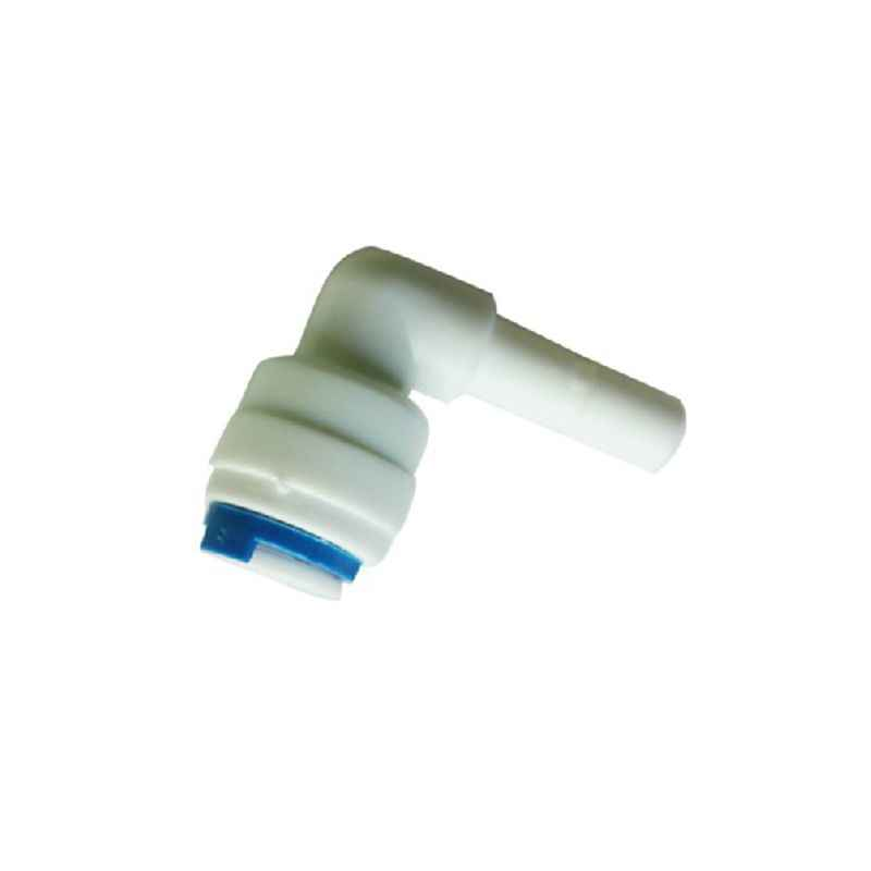 1/4 ''PE connexion rapide-1/4'' coude tuyau raccord tuyau en plastique connecteur Aquarium RO filtre à eau système d'osmose inverse