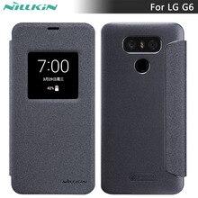 Флип Чехол Для LG G6 NILLKIN Искра флип крышки PU Кожаный смарт Сна Окно чехол Для LG G6 5.7 дюймов телефон случаях