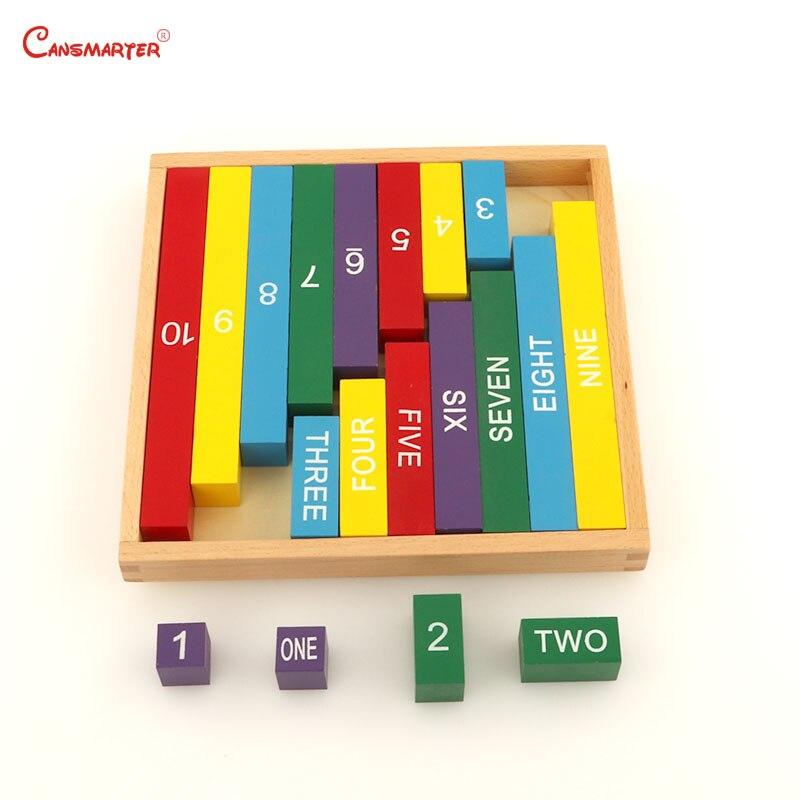 Montessori mathématiques aides pédagogiques couleur barre numérique pour enfants avec boîte d'apprentissage des jouets éducatifs précoces nombre de tiges MA006-NX3