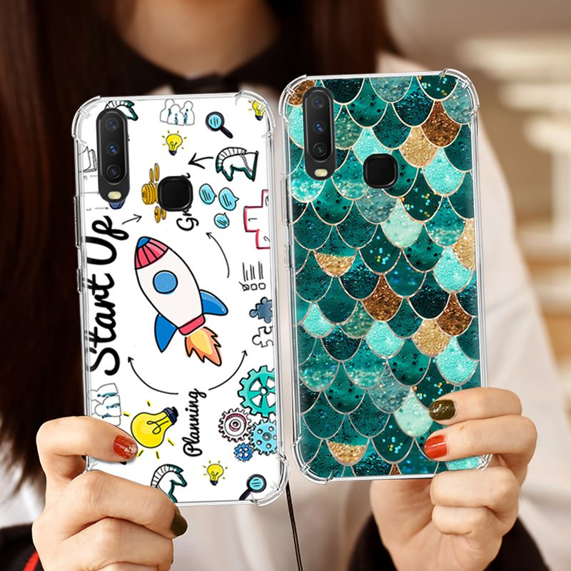 Shockproof Phone <font><b>Case</b></font> For <font><b>Vivo</b></font> Y17 / <font><b>Y3</b></font> / Y15 / Y12 Cute Cartoon Art Painted TPU Silicone Soft <font><b>Case</b></font> image