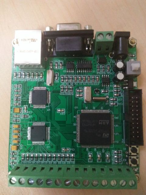 ADC acquisition board AD7606 16 bit 8 channel STM32 processor Ethernet  communication can be opened