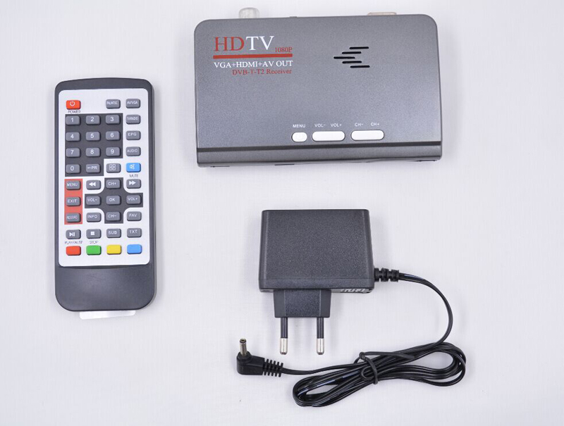 1080P HD DVB-T2 DVB-T Smart TV Box AV to VGA TV Box HDMI VGA AV USB MPEG4 DVB-T2 Receiver ,turn computer to a TV set