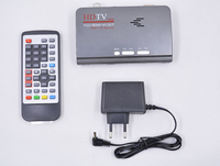 1080P HD DVB T2 DVB T Smart TV Box AV to VGA TV Box HDMI VGA AV USB MPEG4 DVB T2 Receiver ,turn computer to a TV set