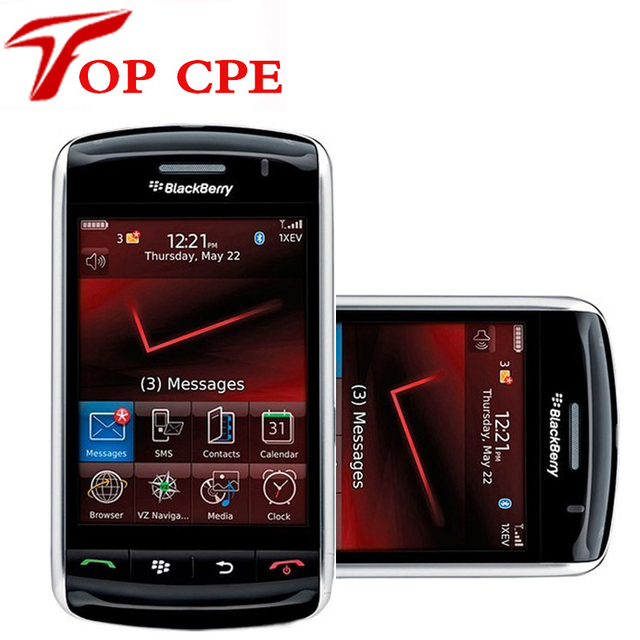 Гарантия 12 месяцев Разблокирована оригинал Восстановленное Blackberry 9530 storm Мобильный сотовый телефон бесплатная доставка